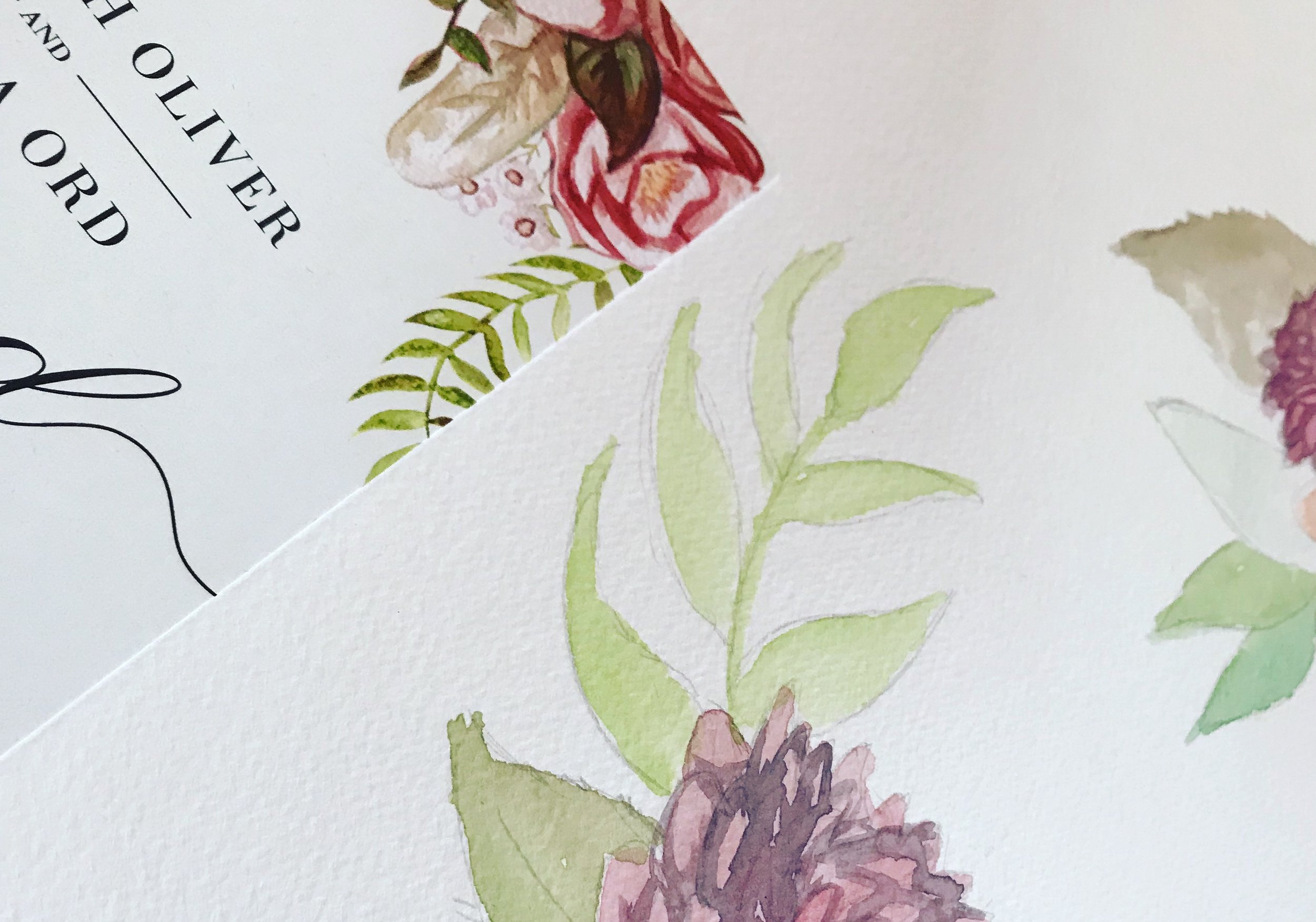 I like to add the personal touch with hand crafted illustrations in all my wedding invite designs