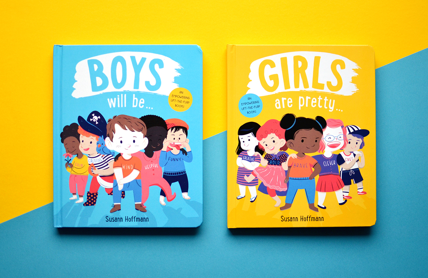 "Books ""Boys will be…"" and ""Girls are pretty…"" illustrated by Susann Hoffmann"