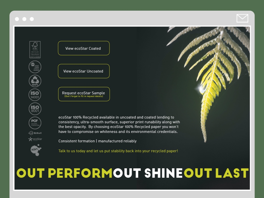 EDM design for ecostar paper campaign