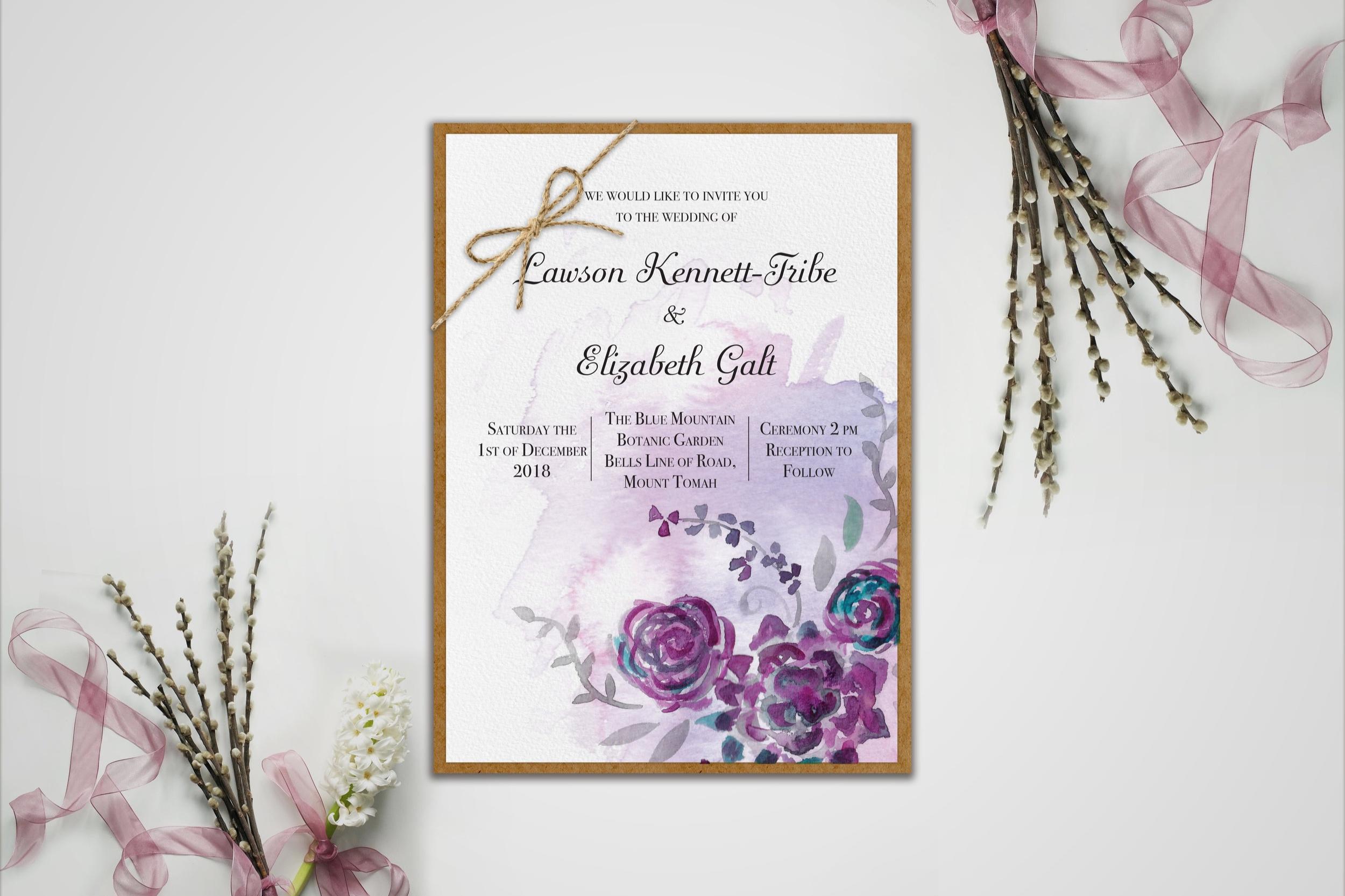 Wedding invite – Lawson and Elizabeth