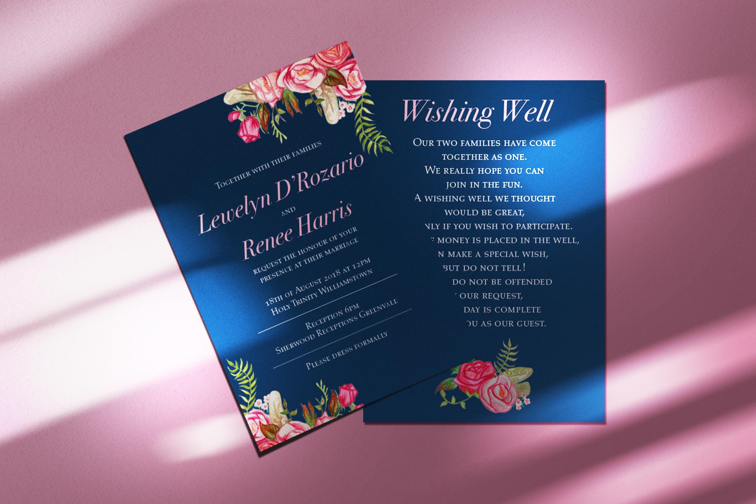 Wedding invite – Navy