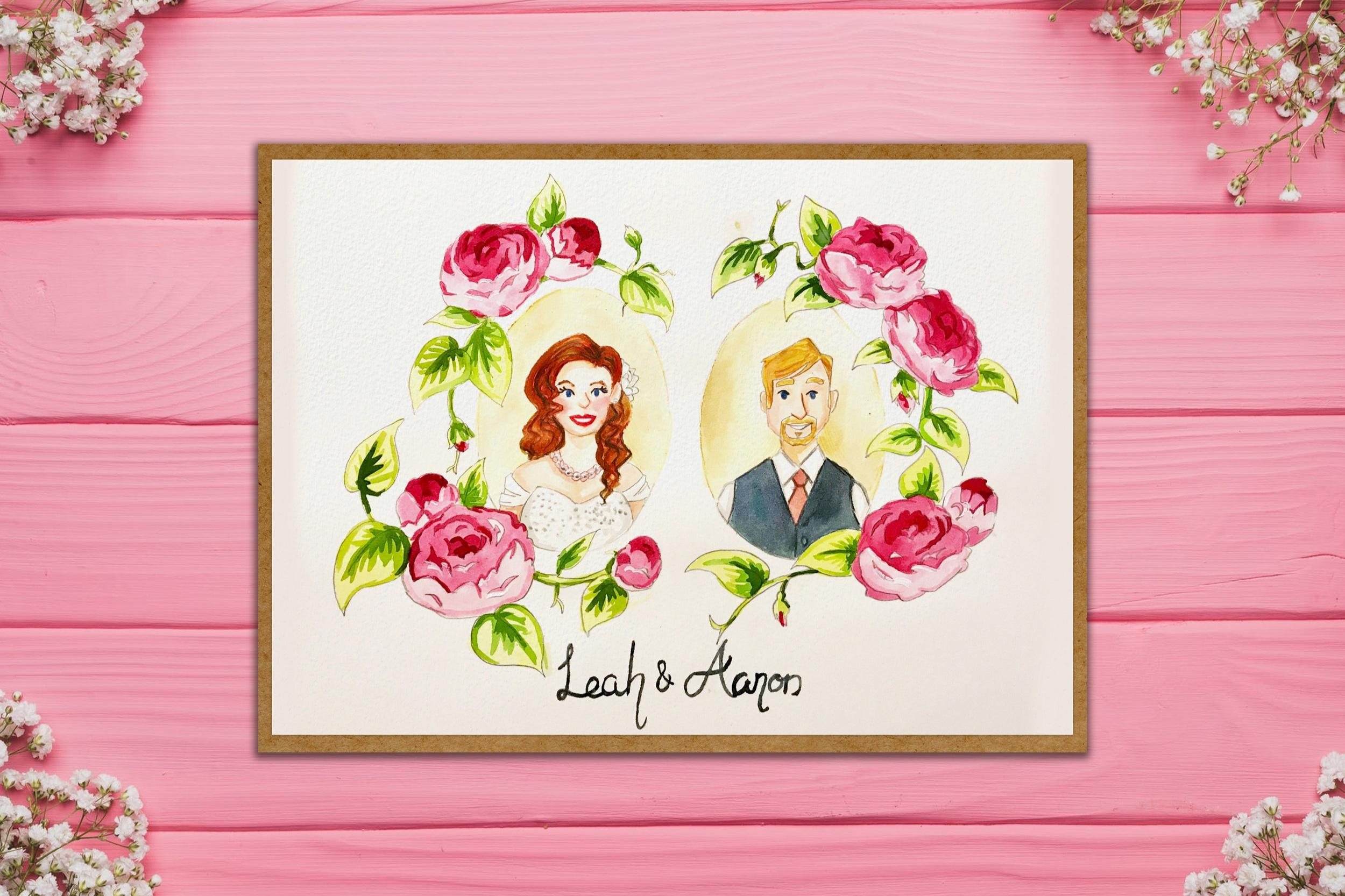 Custom illustration – wedding