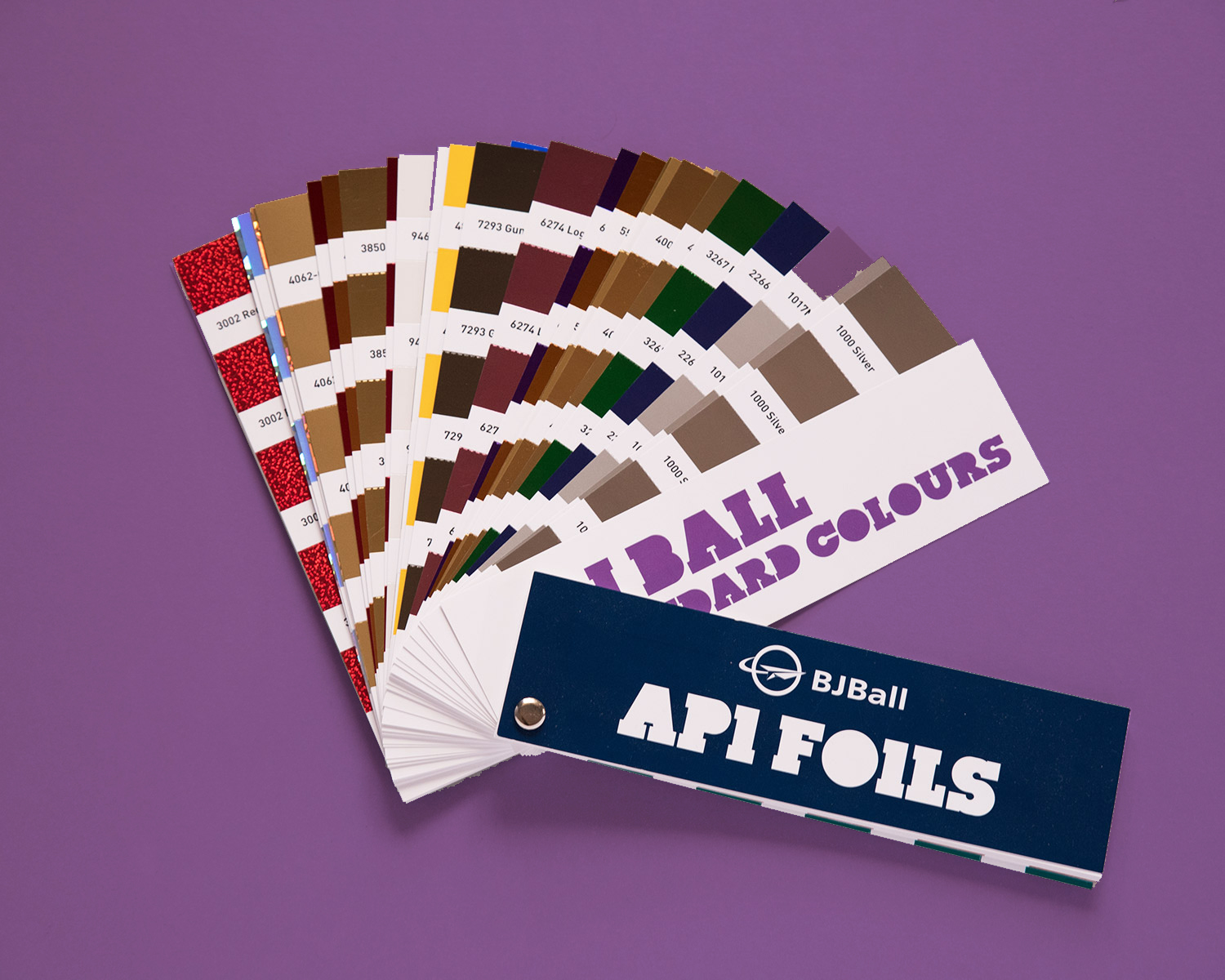Custom product catalogue designed to promote the API foils range of Ball and Dogget