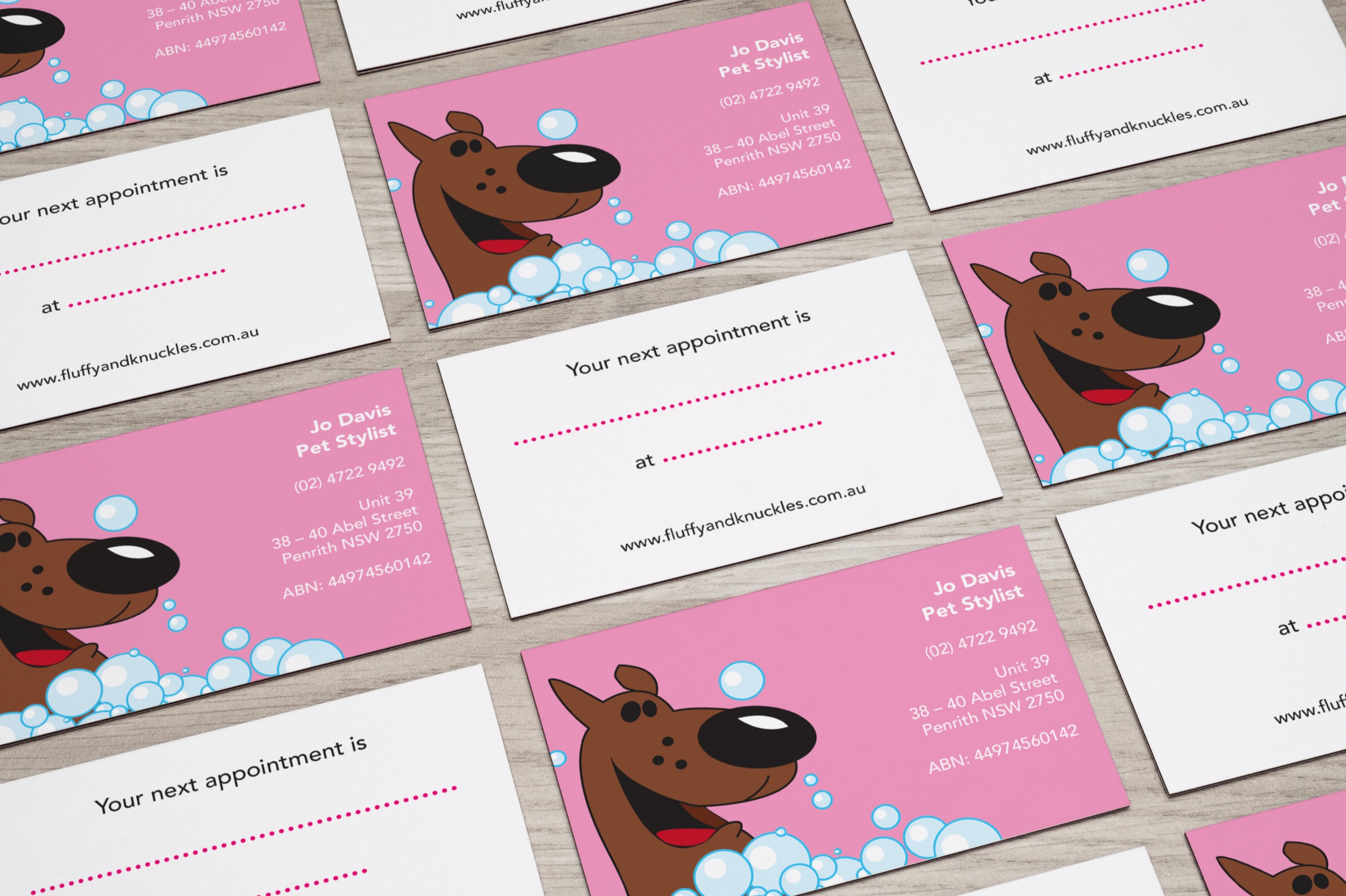 Business card design – Fluffy and Knuckles