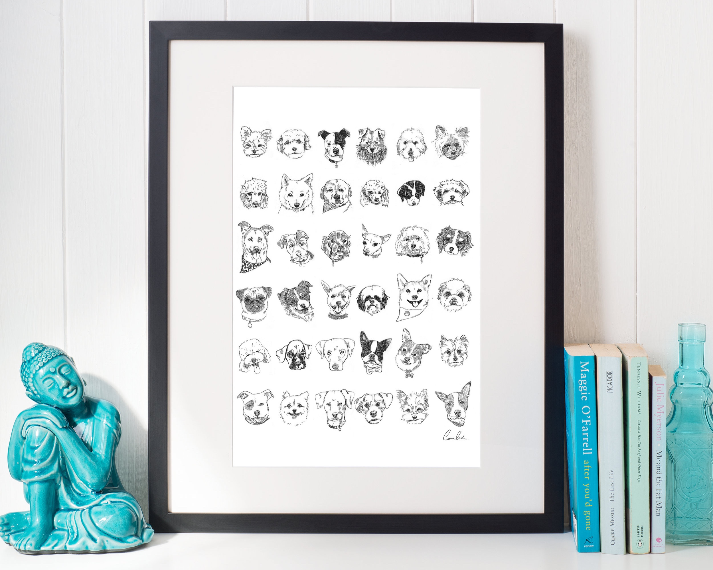 My dog inktober poster available on  society 6 store