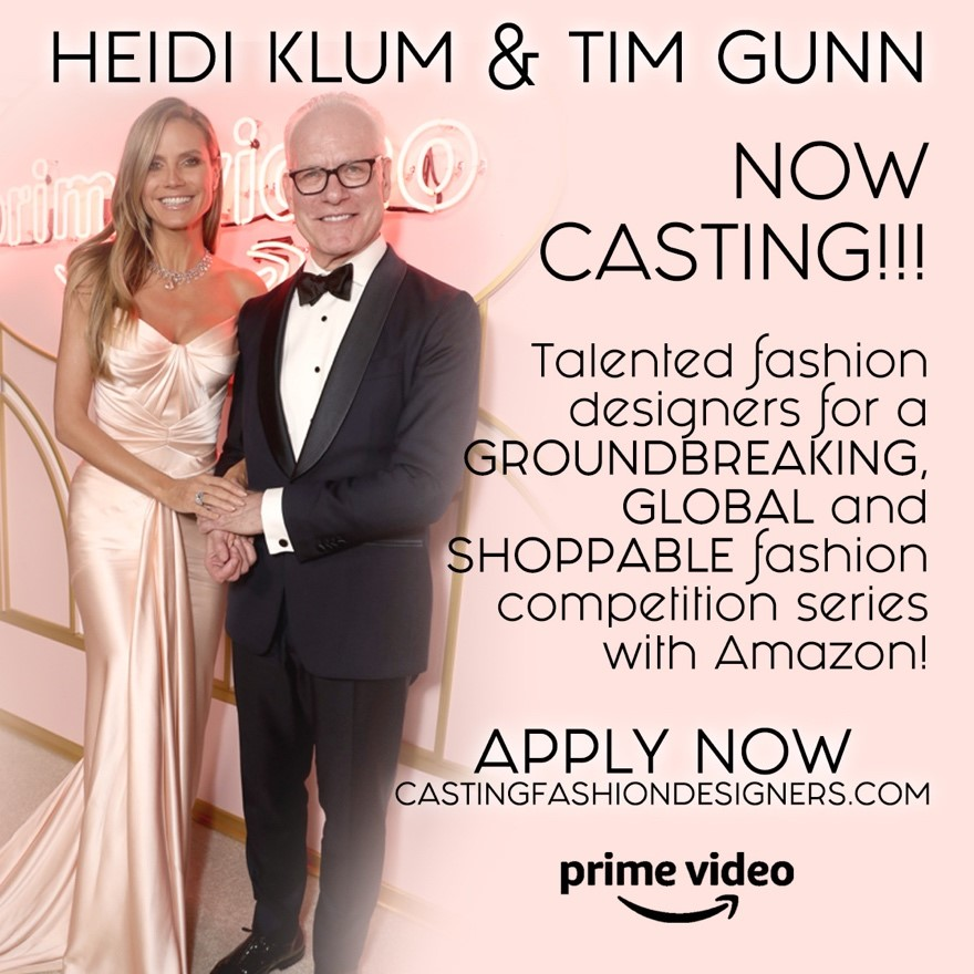 NEW SHOW - A new platform reaching a global audience (the show will drop in 200 countries) we're looking for more established, innovative designers who are seeking to expand their brands to reach a broader, global community. Amazon is putting its full force behind this project, offering designers incredible exposure and a significant prize for the winner.