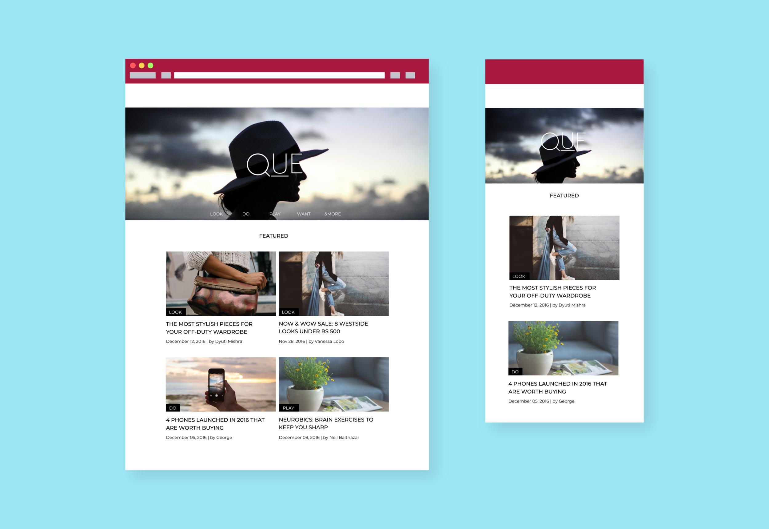 Final Design for Tata Cliq — Que Mag