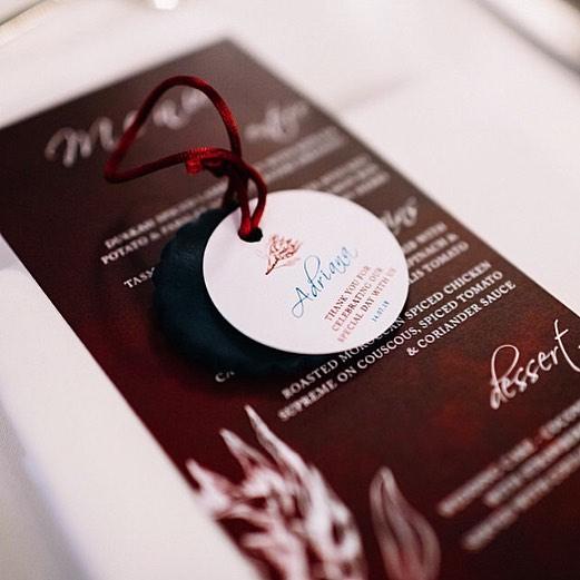 Menu + gift tag designs . . . #samanthacollier_styling #wedding #weddingstationery #graphicdesign #weddinginvitations #design #creativity #natives #burgandy #eventstyling #events #print