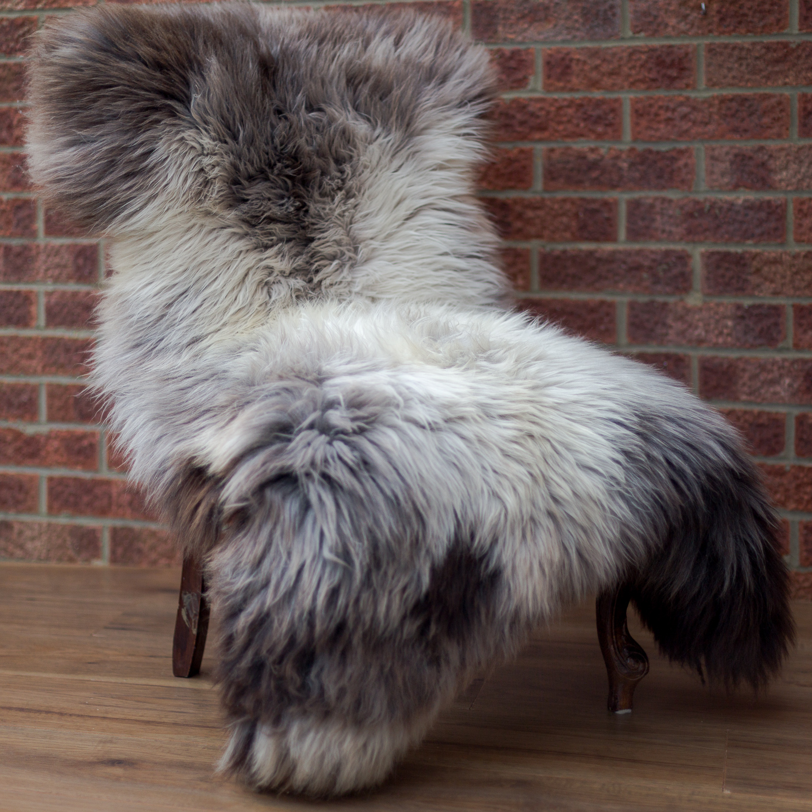 Extra large sheepskin rug 'Milka' chocolate look