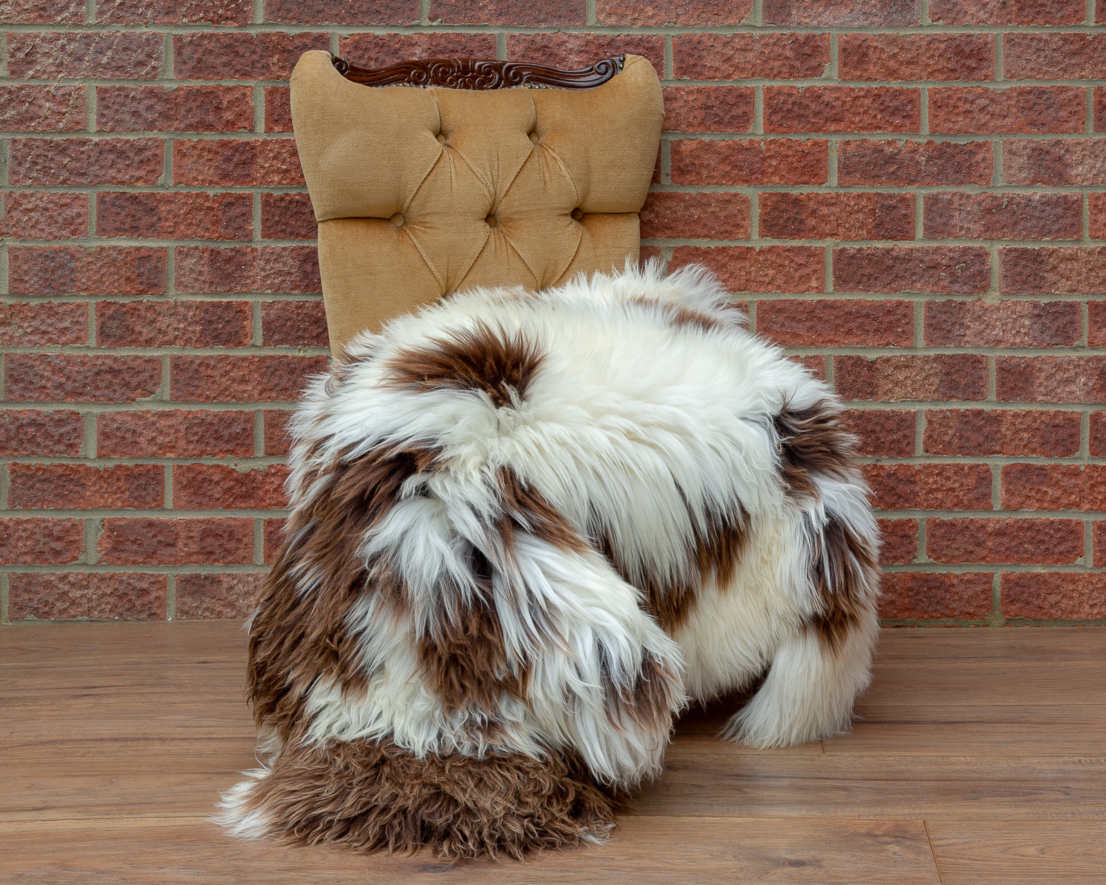 Dutch Spotted sheepskin rug