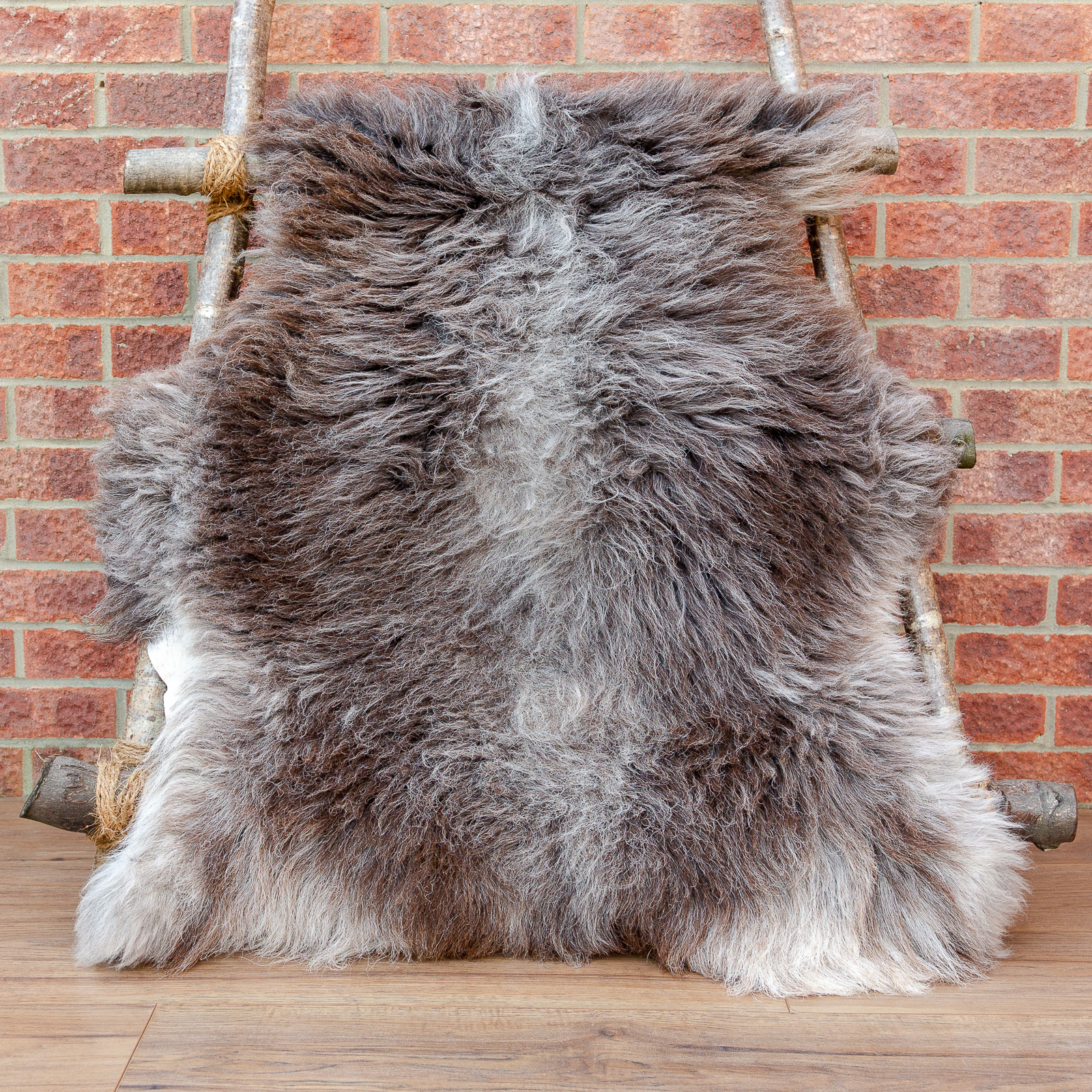 Brown Herdwick sheepskin rug