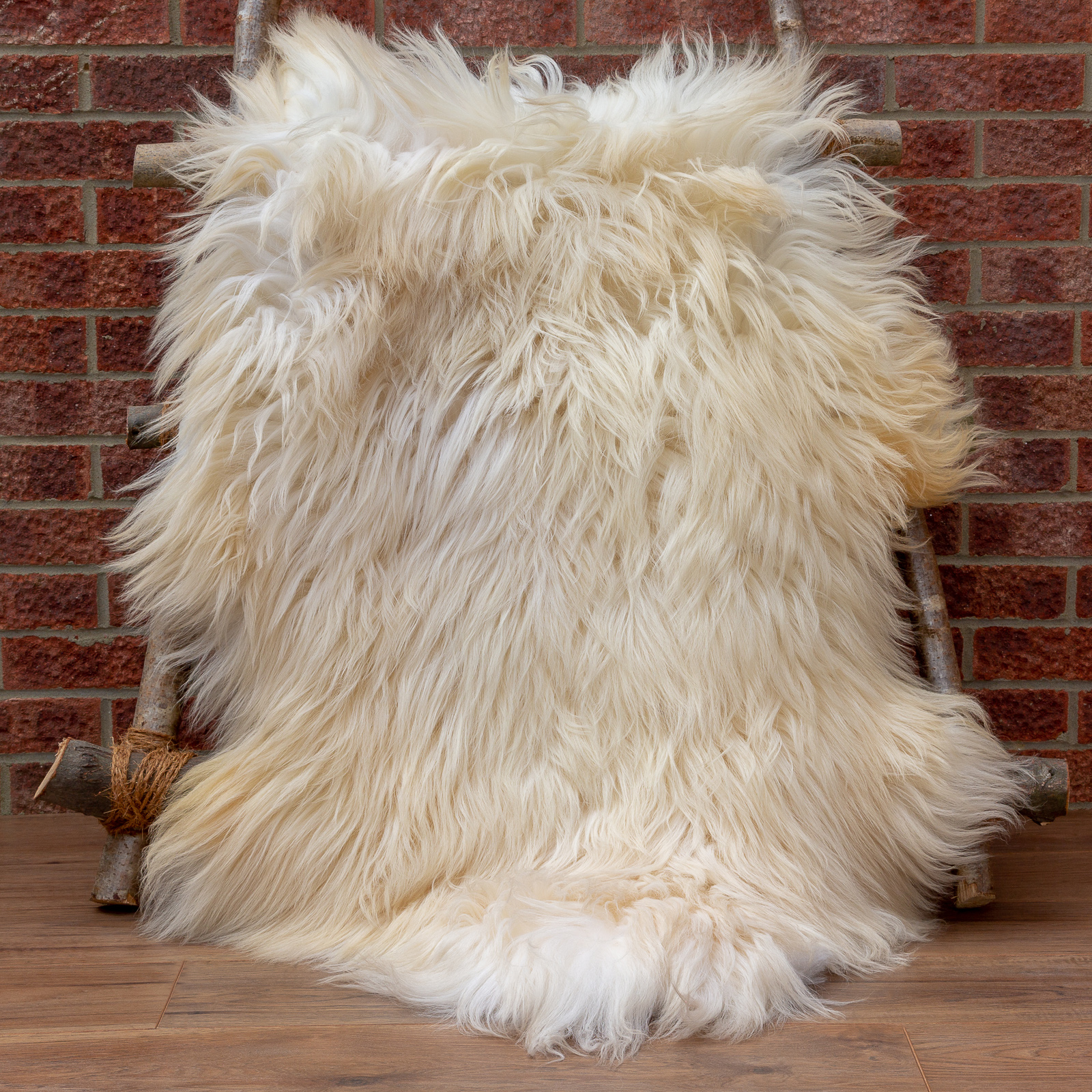 Long hair High Mountain breed sheepskin rug