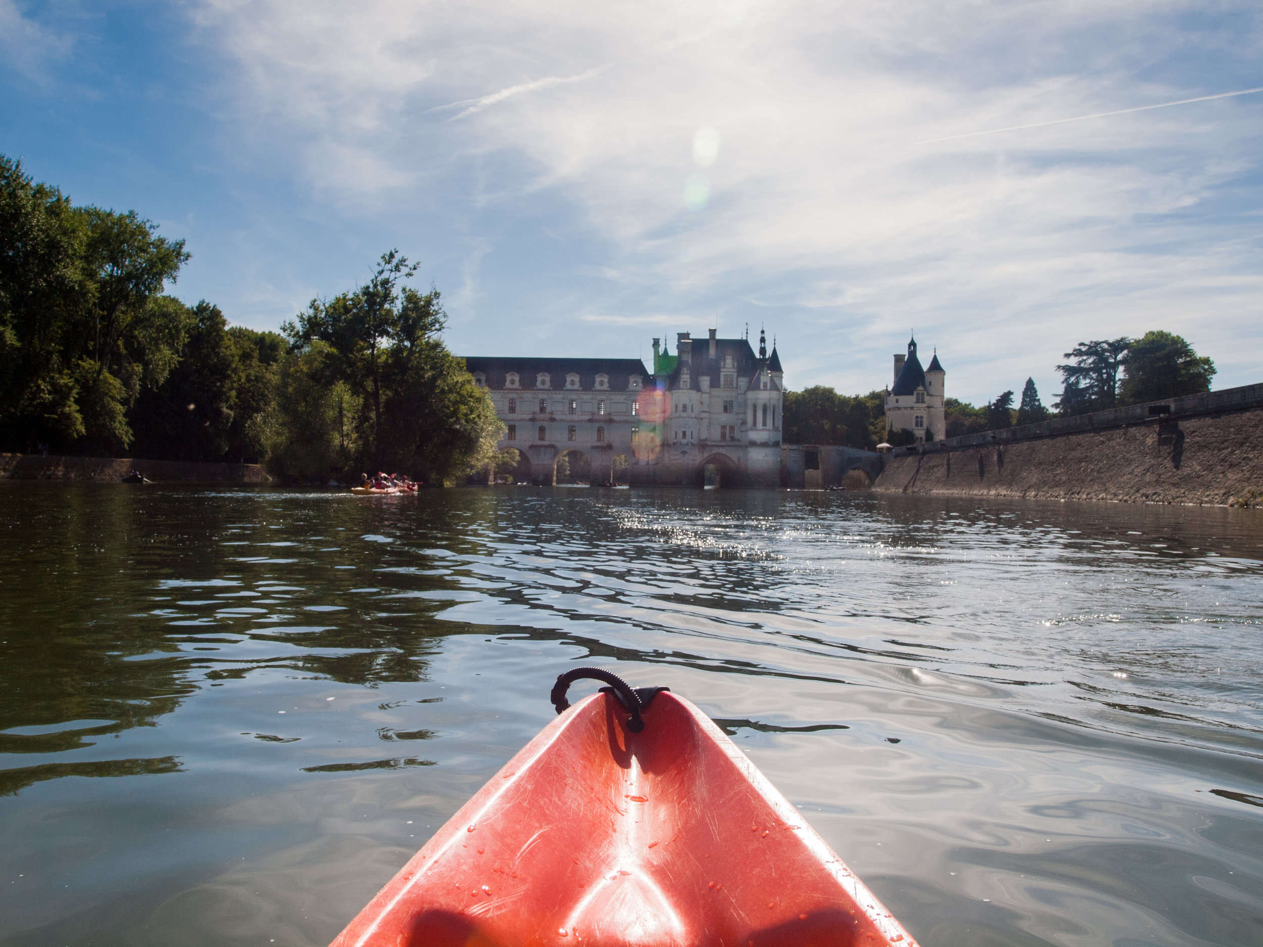 Kayaking on the Loire river, France