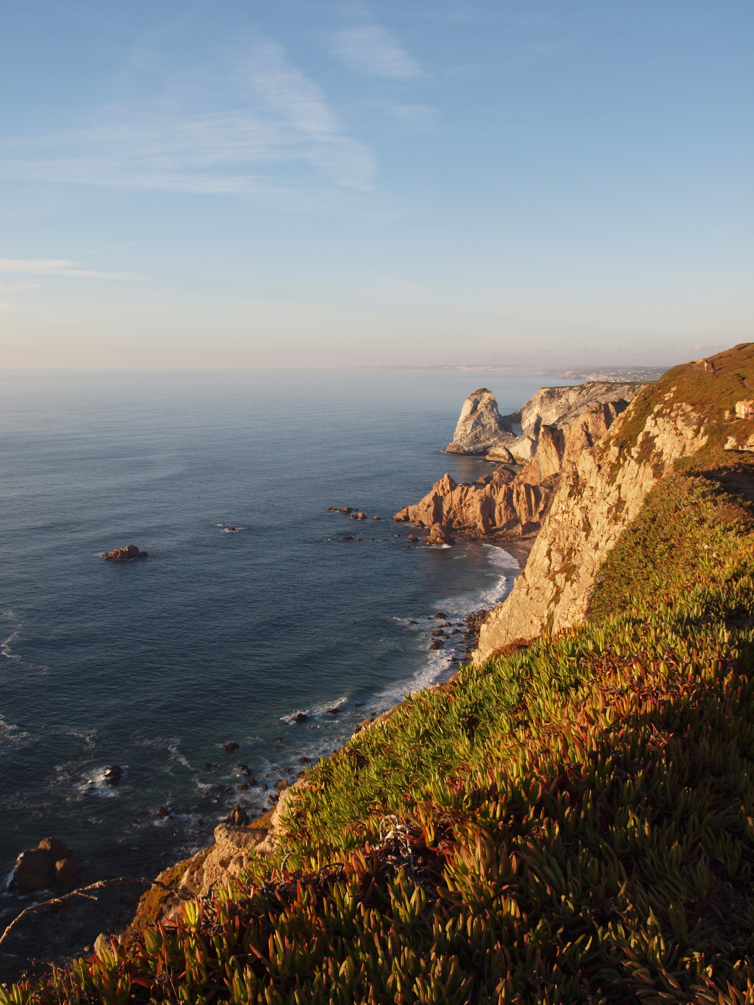 Cabo da Roca - the westernmost point of continental Europe in Portugal