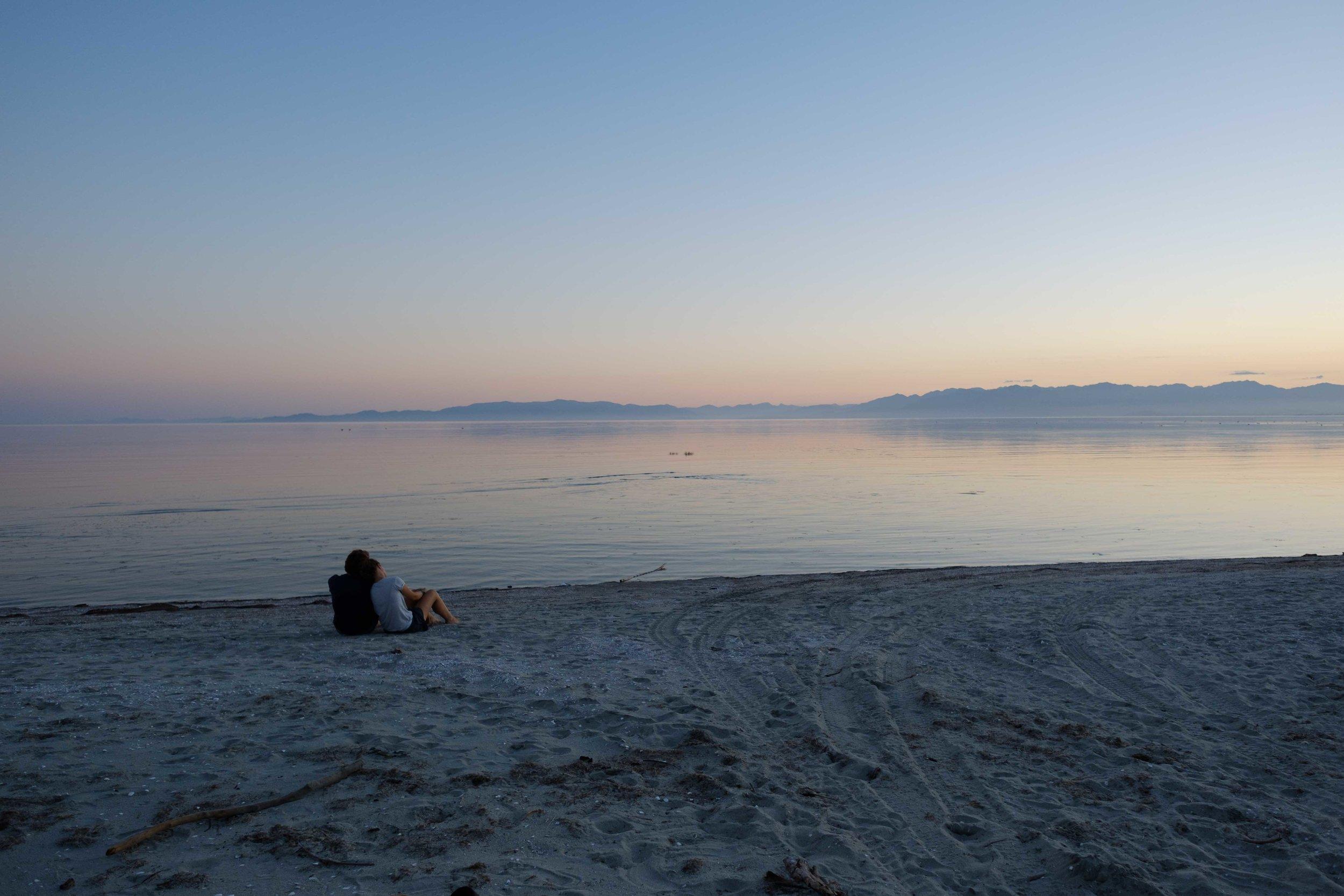 Super beau beau beau coucher de soleil sur la inner beach.. waw waw waw ..