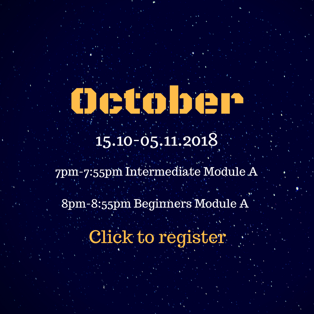 Status: registration is open for existing students and waiting list exclusively until 19.09.2018, then opens to public.