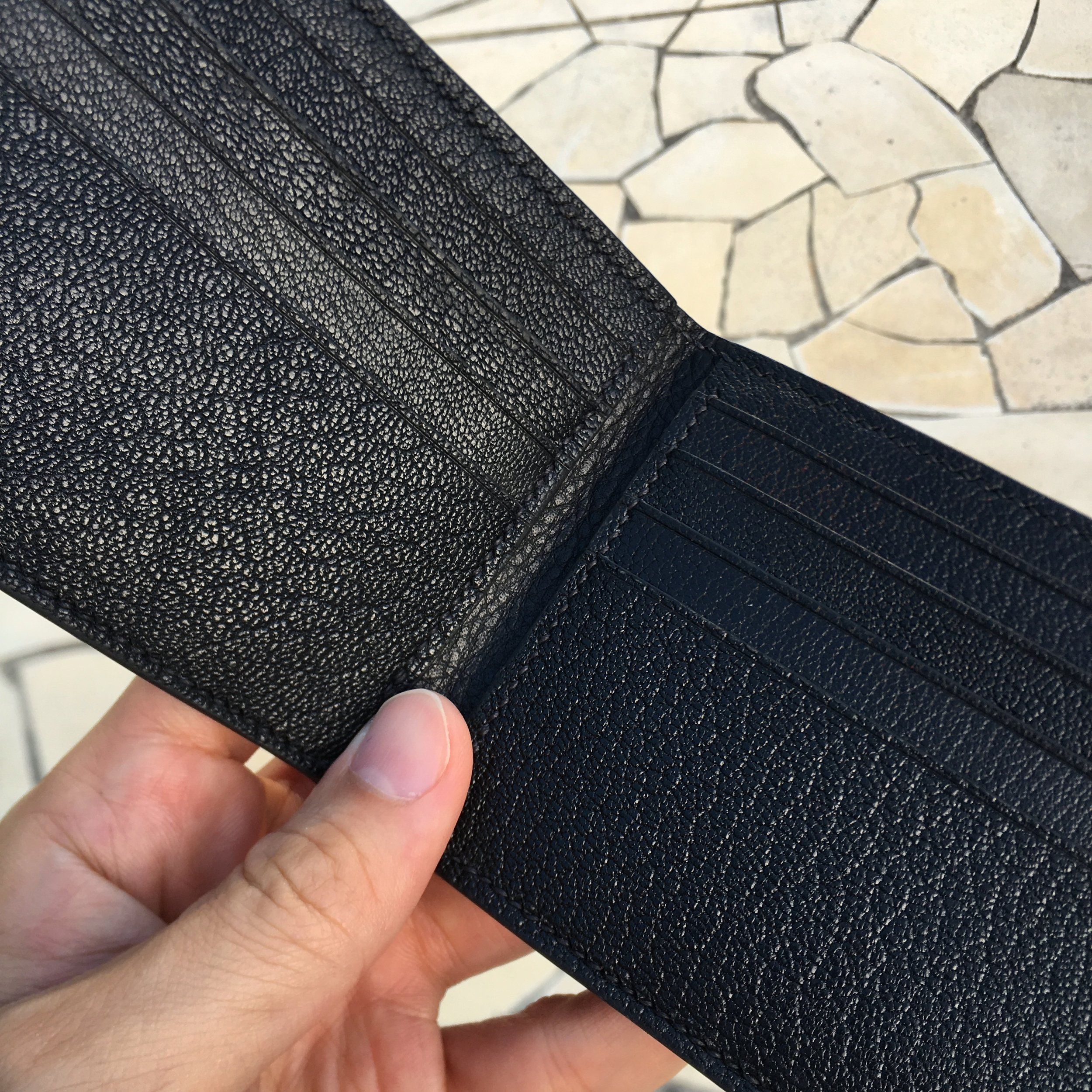 Bifold Wallet    8 card slot with 2 note compartment plus a back pocket on back exterior