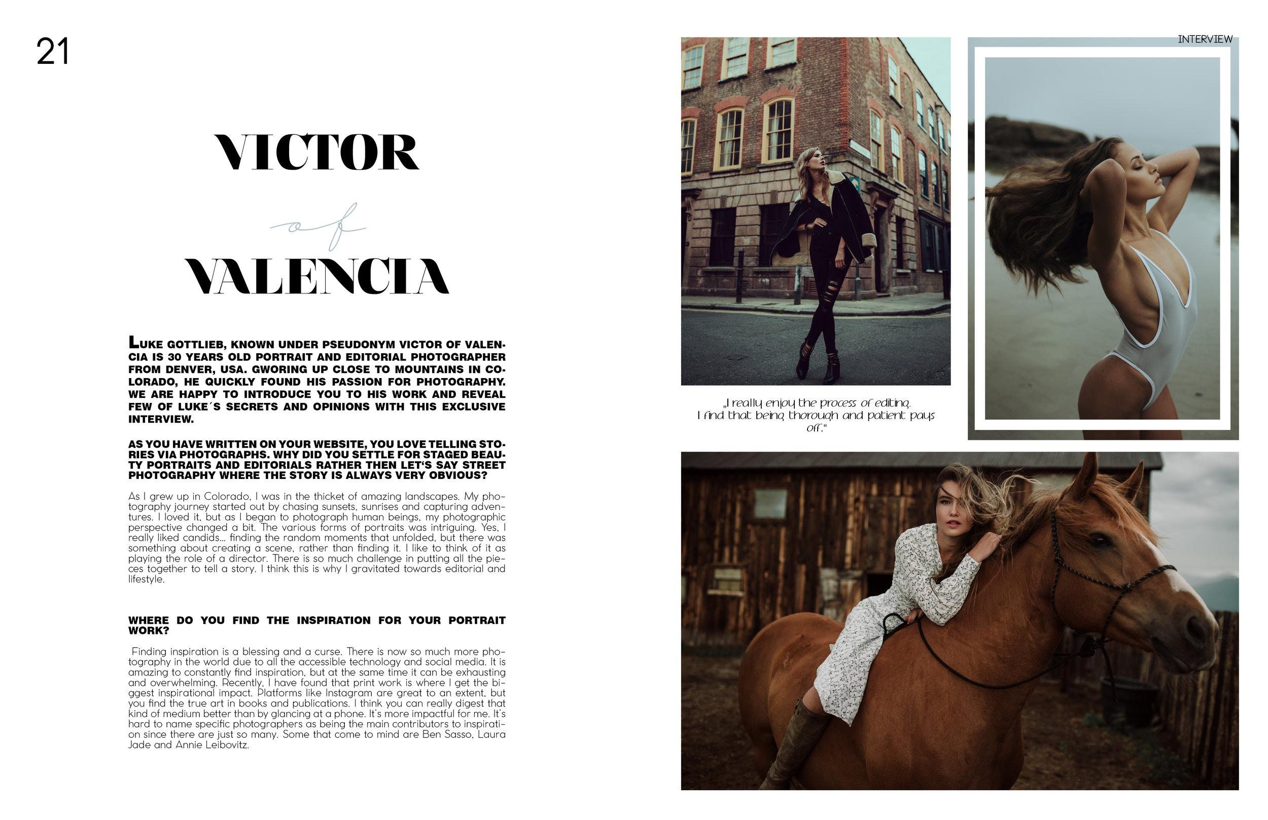Victor of Valencia in Eloque magazine Issue 5, 2018