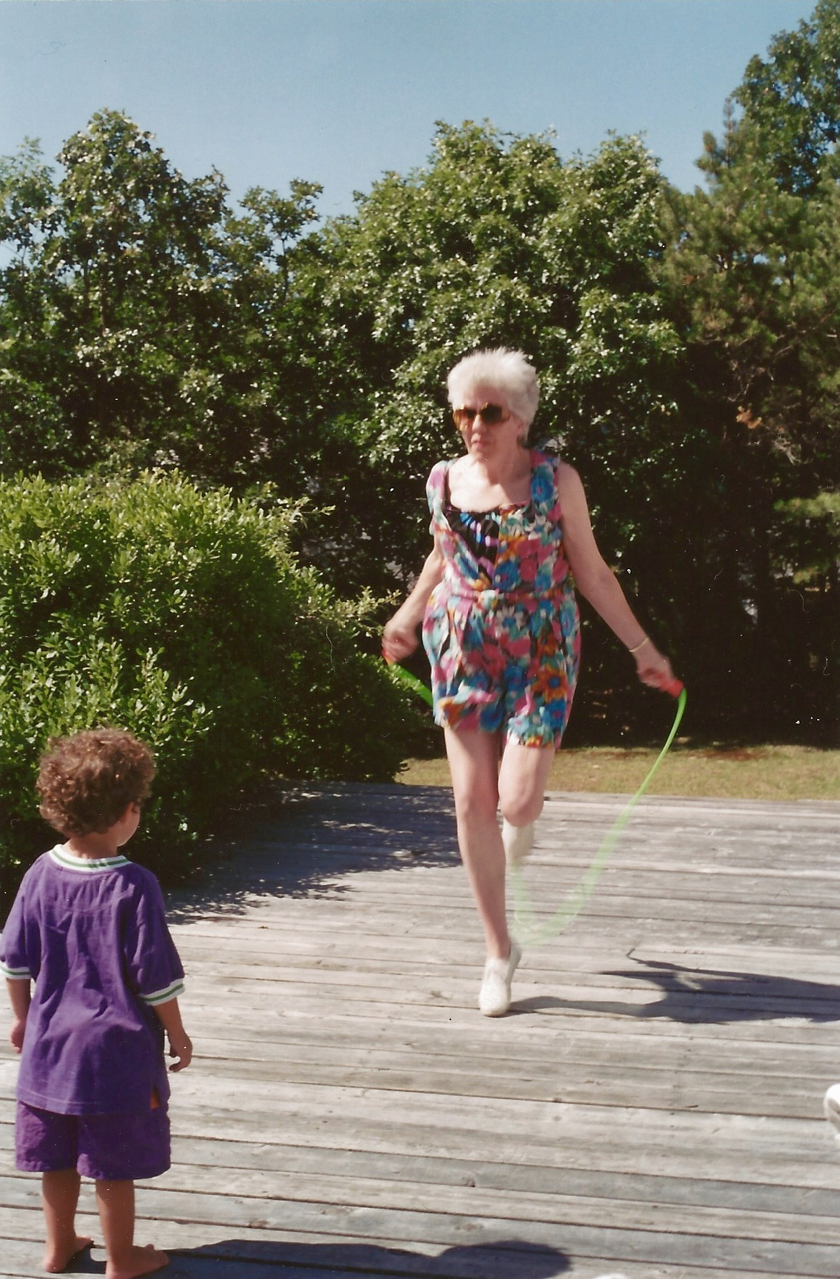 My mother with my son in 1992.