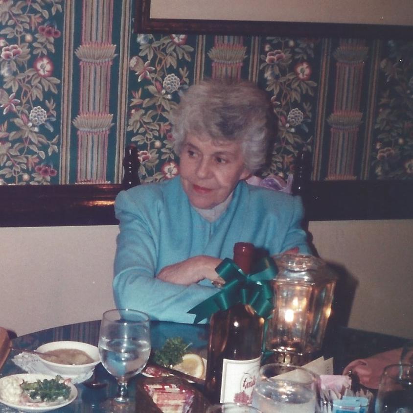 Norma Dougherty in 1990. Queen of the casseroles.
