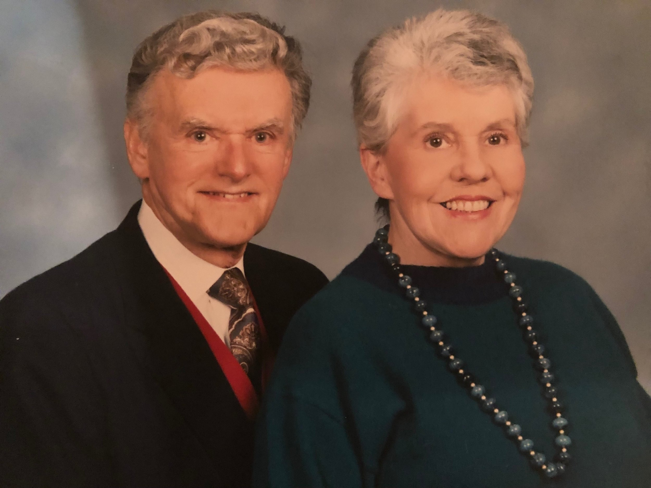 Post-surgery parents. Just in time for the Olan Mills portrait in the church directory.