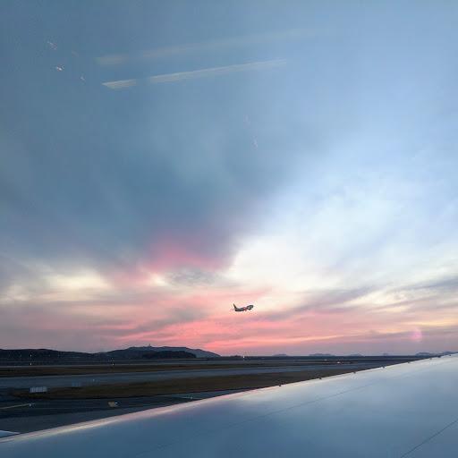 Leaving Seoul, heading to Hanoi. Photo by Bryn.
