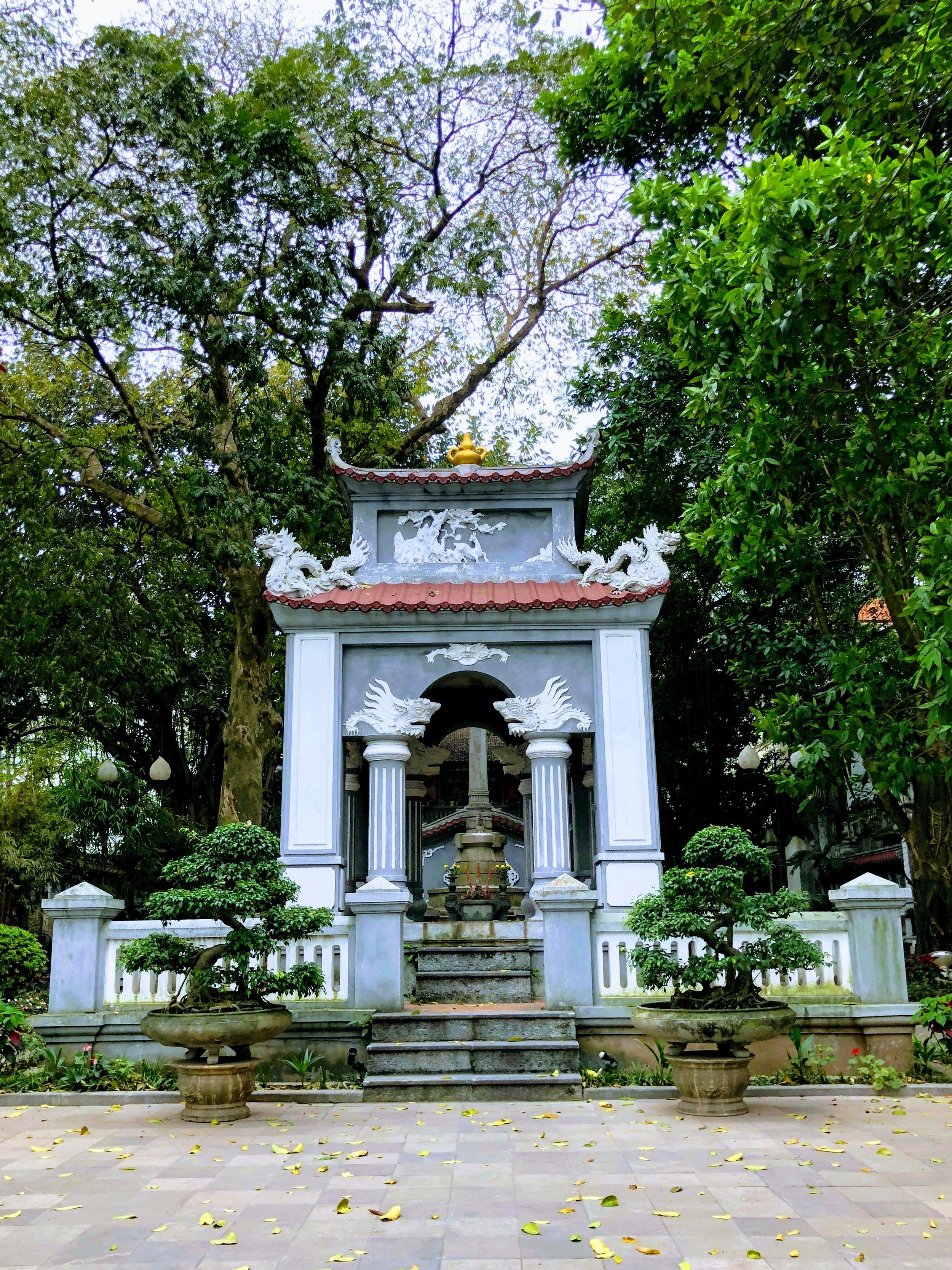 A little shrine by Hoan Kiem Lake. (No English signs, unfortunately.)