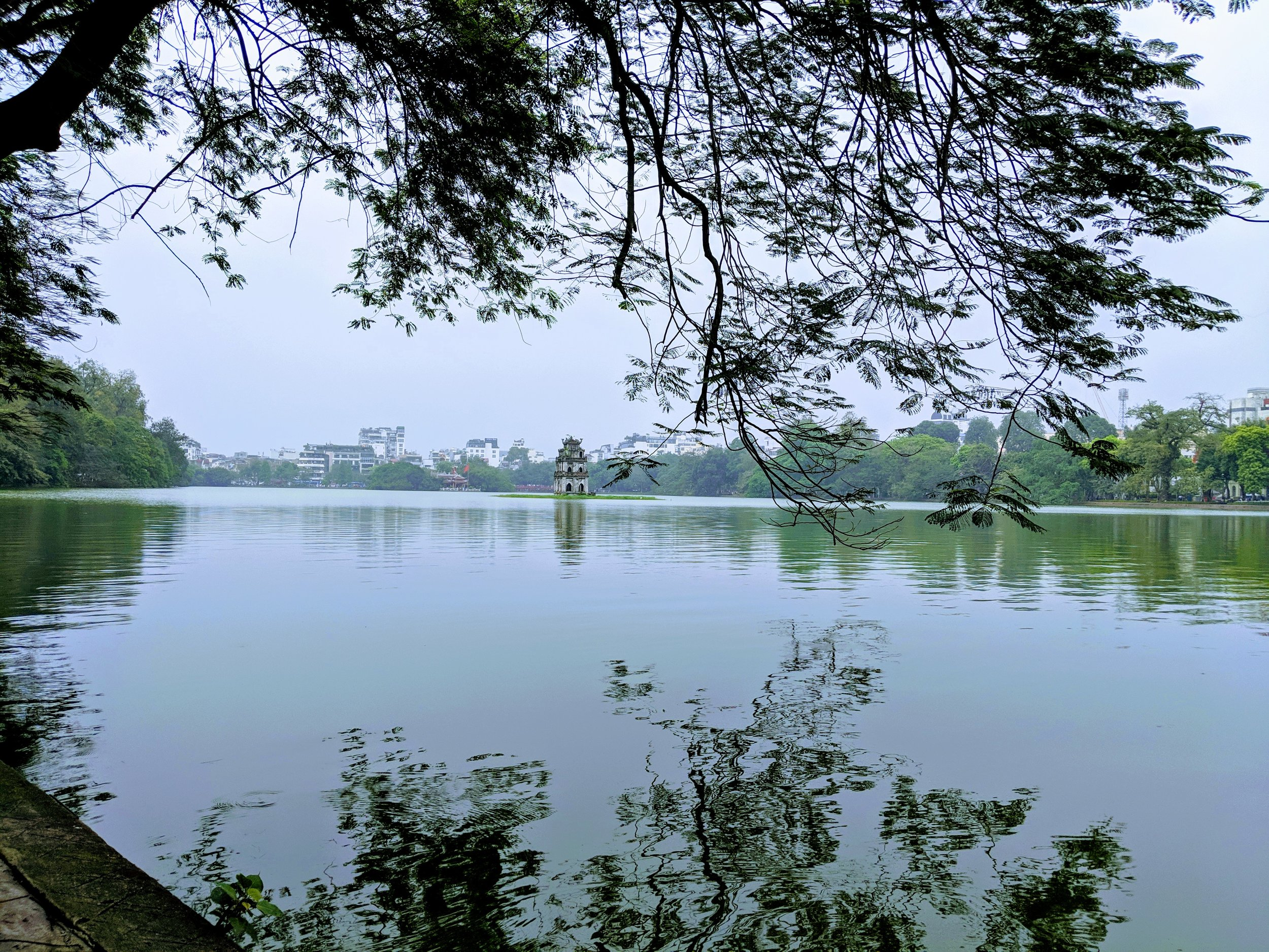 Thap Rua shrine in Hon Kiem Lake.
