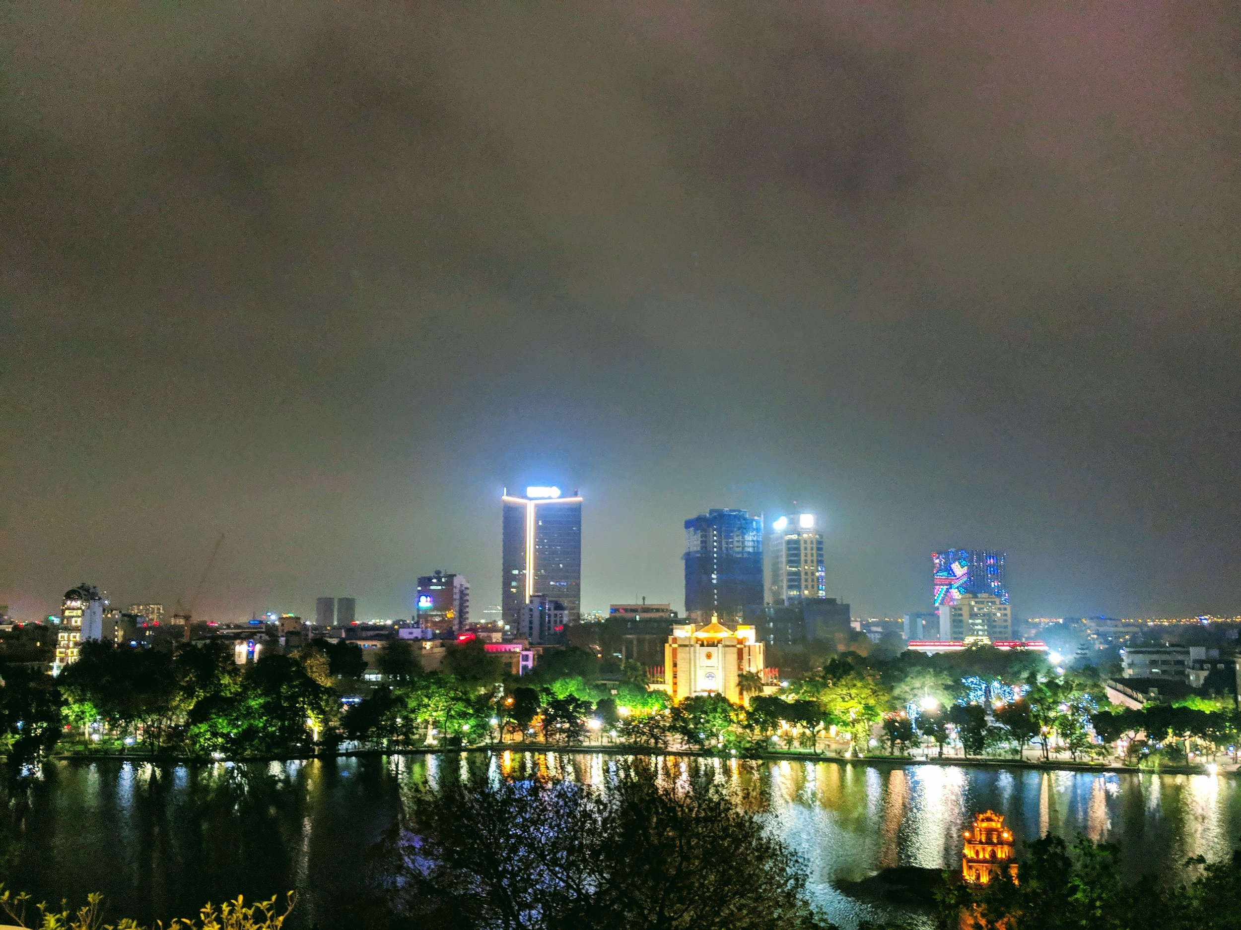 Good night, Vietnam. Hanoi, from the roof of the Apricot Hotel.