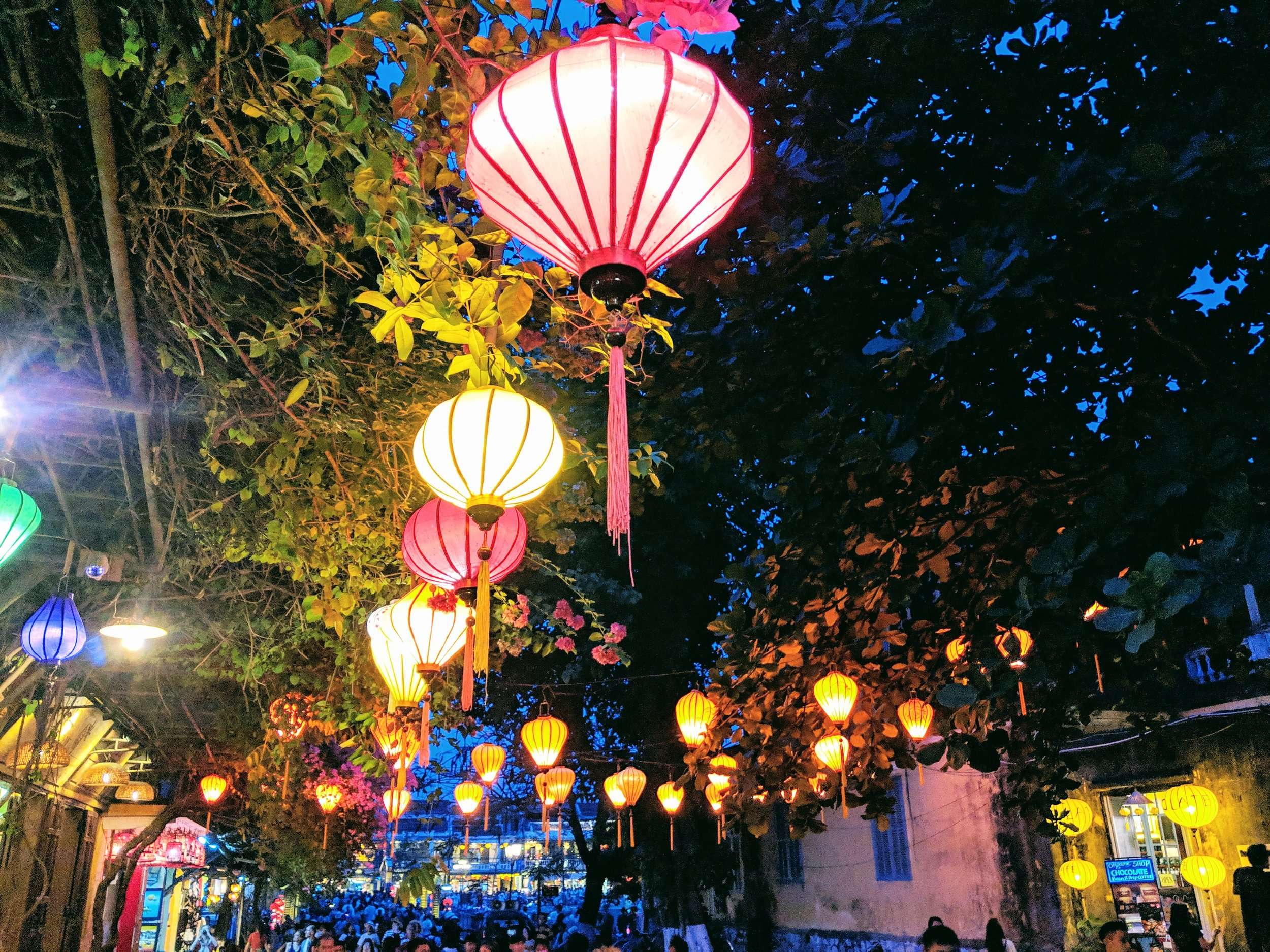 Hoi An is famous for its lanterns.