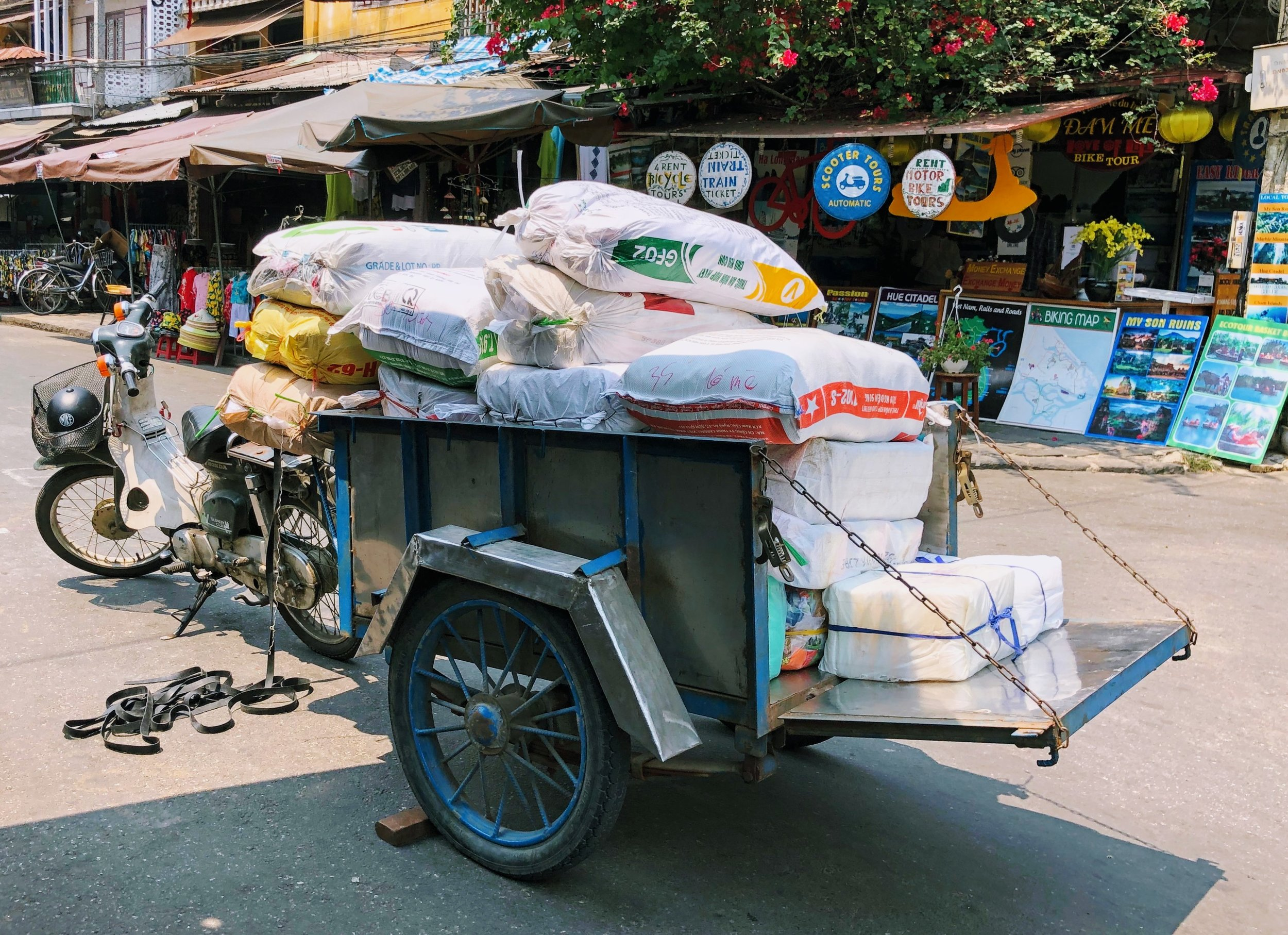 Motor bike/pick-up truck. Hoi An.
