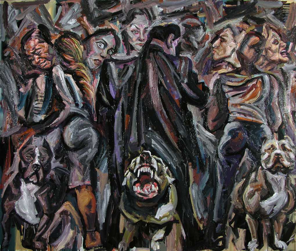 Waiting for Klamm, 2006. Oil on canvas, 66 inch x 78 inch