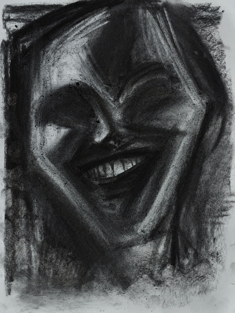 Drawing #76, 2018. Charcoal on paper, 15 inch x 11.5 inch