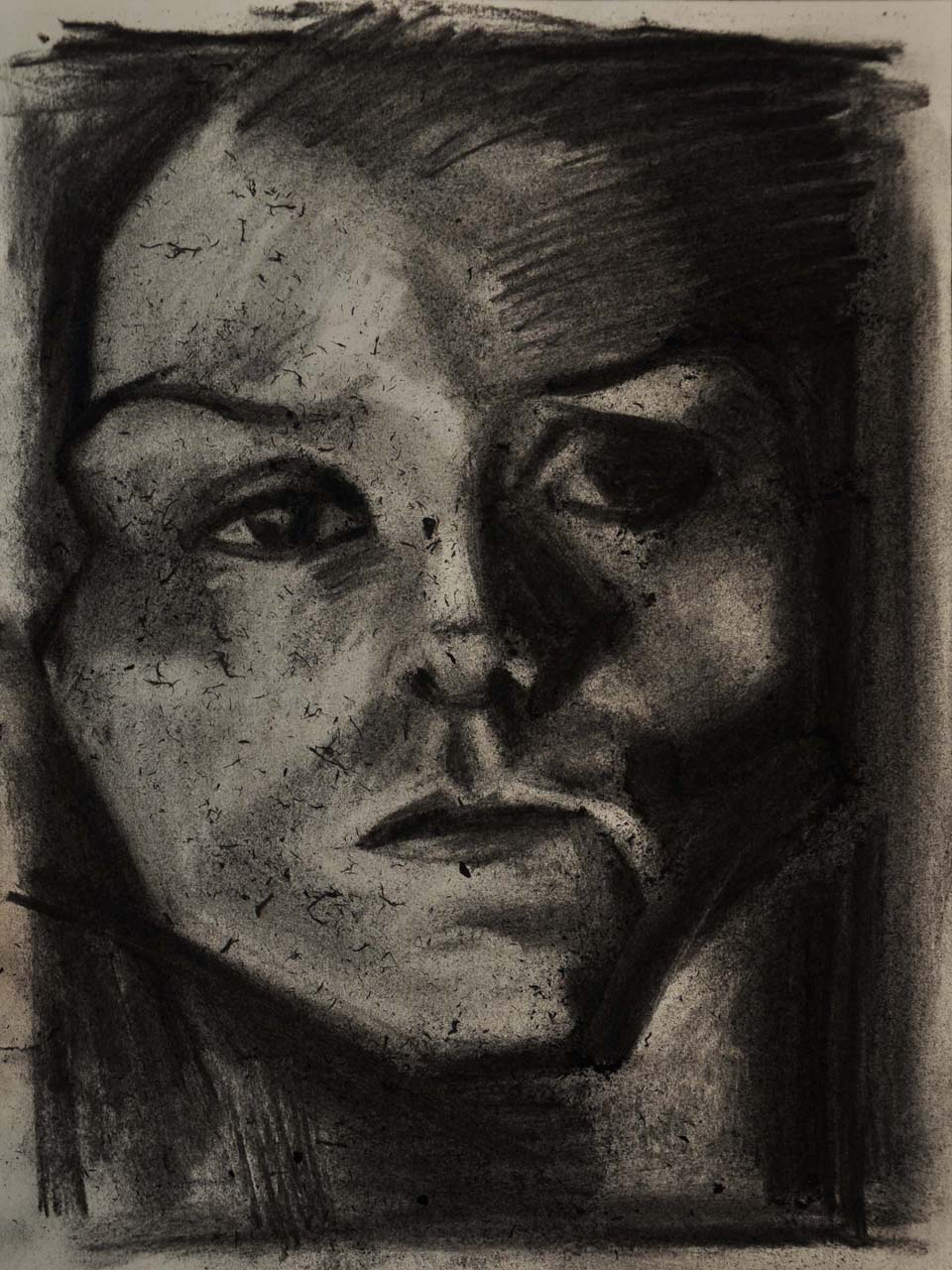 Drawing #77, 2018. Charcoal on paper, 15 inch x 11.5 inch