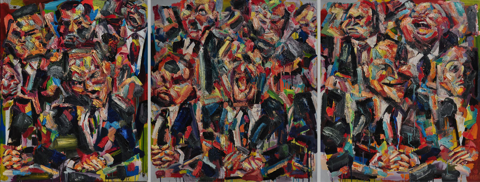 Snapshot, 2008. Oil on canvas, 50 inch x 130 inch