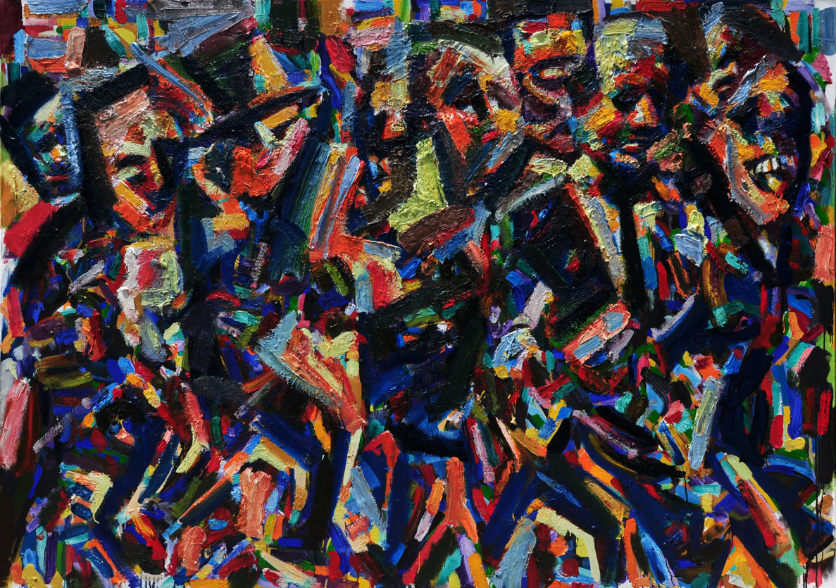 Rush Hour, Autumn, 2009 - 14. Oil on canvas, 64 inch x 90 inch