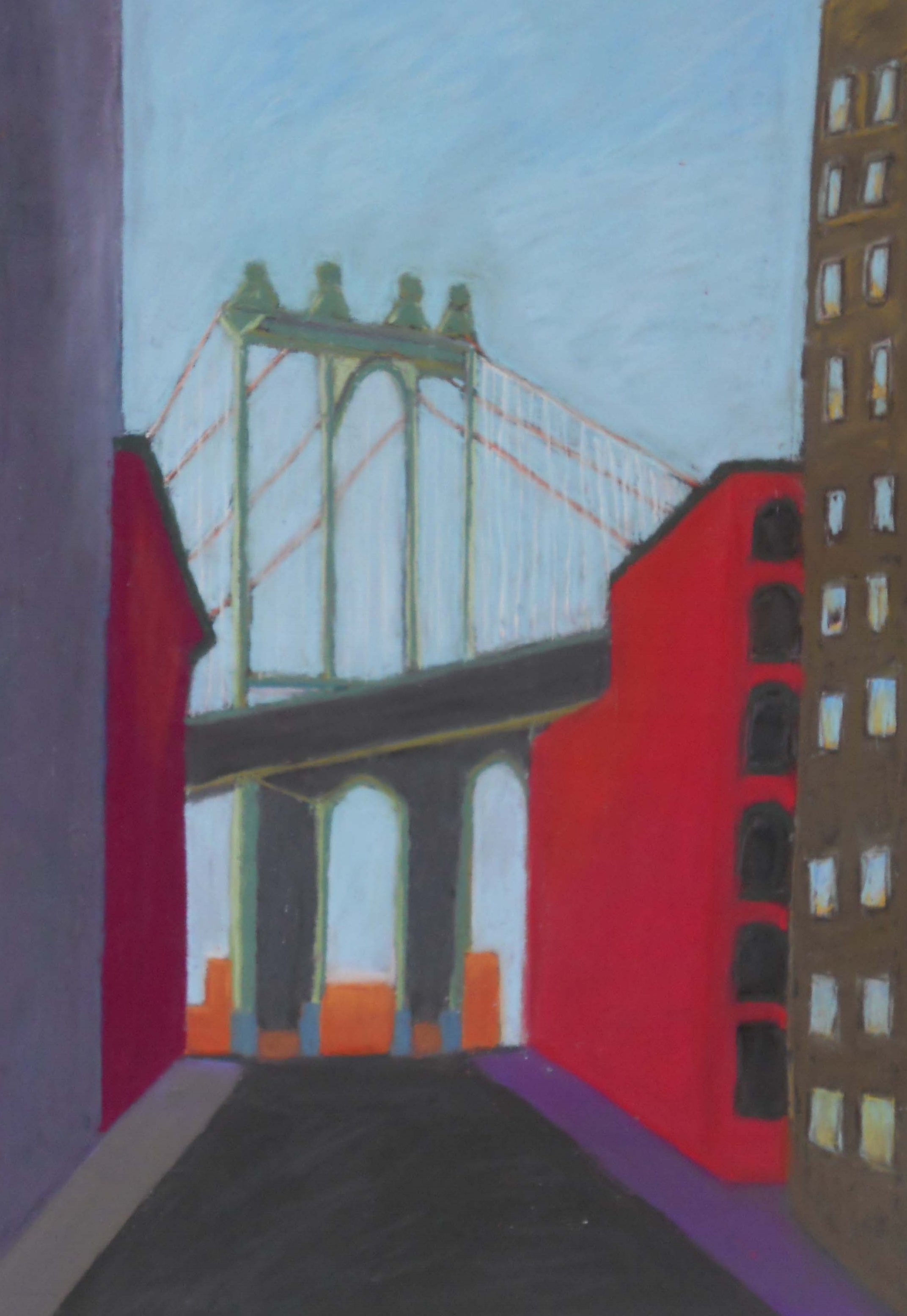 Manhattan Bridge            16 x 19 Framed