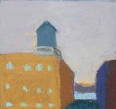 Towards the Hudson          9 x 9 Framed