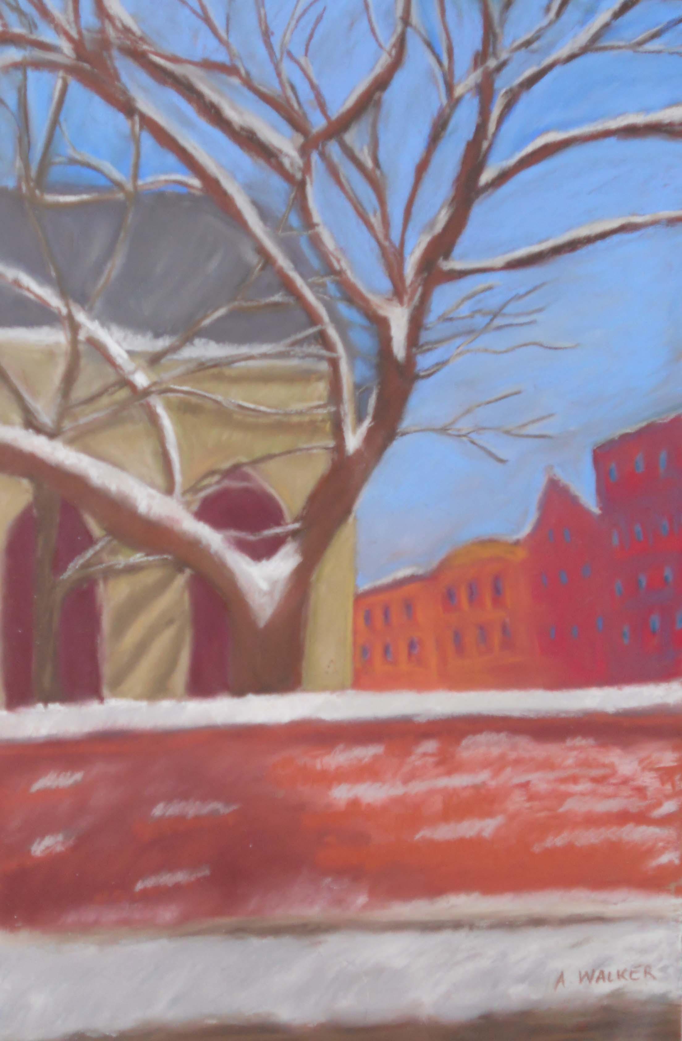 Snowy Day on Prince Street       19 x 25 Framed