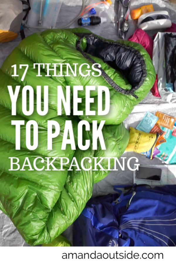 The is the gear you need to pack for a backpacking trip. Click through for a list of backpacking gear, and loads of tips for backpacking.