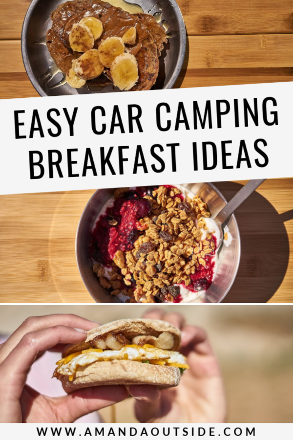 Need some easy car camping breakfast ideas? Click through for 3 delicious camp breakfast recipes and a video tutorial! #campfood #camping #campingmeals