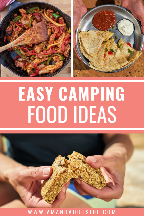 Looking for easy car camping food ideas? Click through for camping meal ideas for breakfast, lunch, snacks, dinner, and dessert! #camping #campingfood #campingtips
