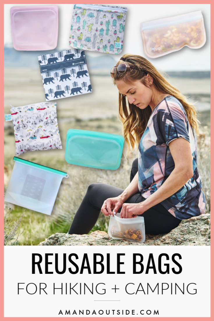 Want to reduce your use of plastic? Click through for a complete review of the best reusable bags for hikers and campers! #campinghacks #hikingtips #campfood