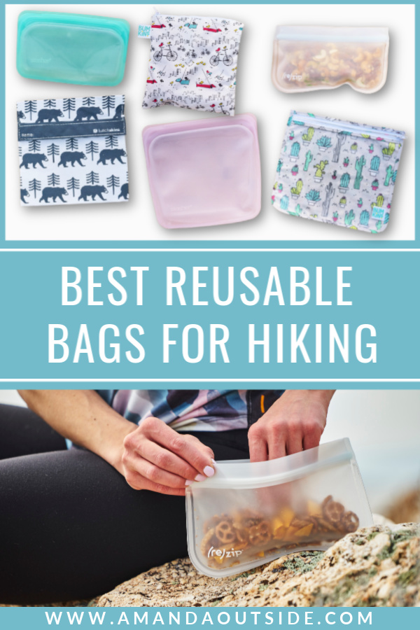 Reusable Bags Review - Click through for a complete review of the best reusable bags for hiking snacks and camp cooking! #campinghacks #hiking #hikingtips