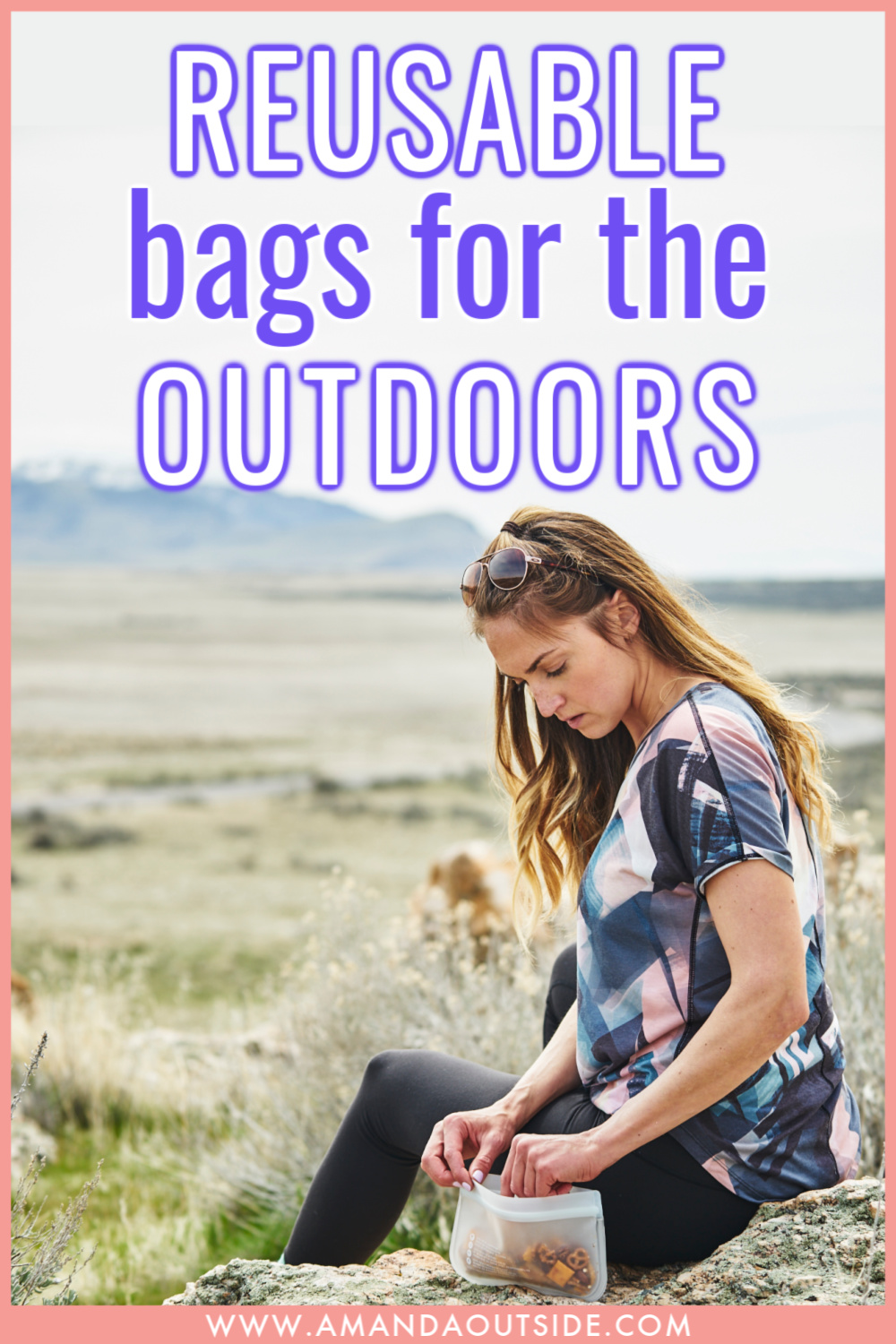 The BEST reusable bags for hiking snacks and car camping leftovers. Click through for the complete review! #camping #campingtips #campinghacks