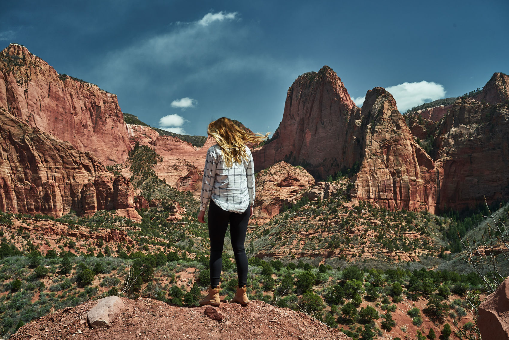 Amanda Outside - your source for all things hiking, backpacking, and camping in Utah. Pictured here is Kolob Canyon in Zion National Park. Click through for your guide to visiting this area including when to go, how to get backpacking permits, and reviews of all the trails in this area! www.amandaoutside.com #hikingtips #utah #zion