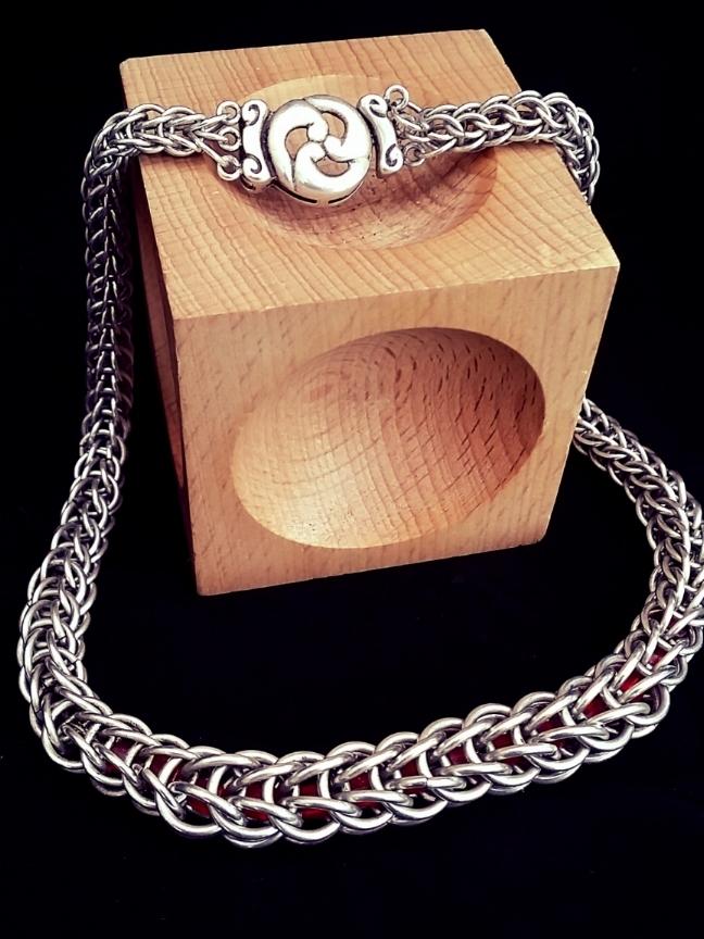 Graduated Full Persian Sterling Silver Captured Swarovski Crystal Necklace