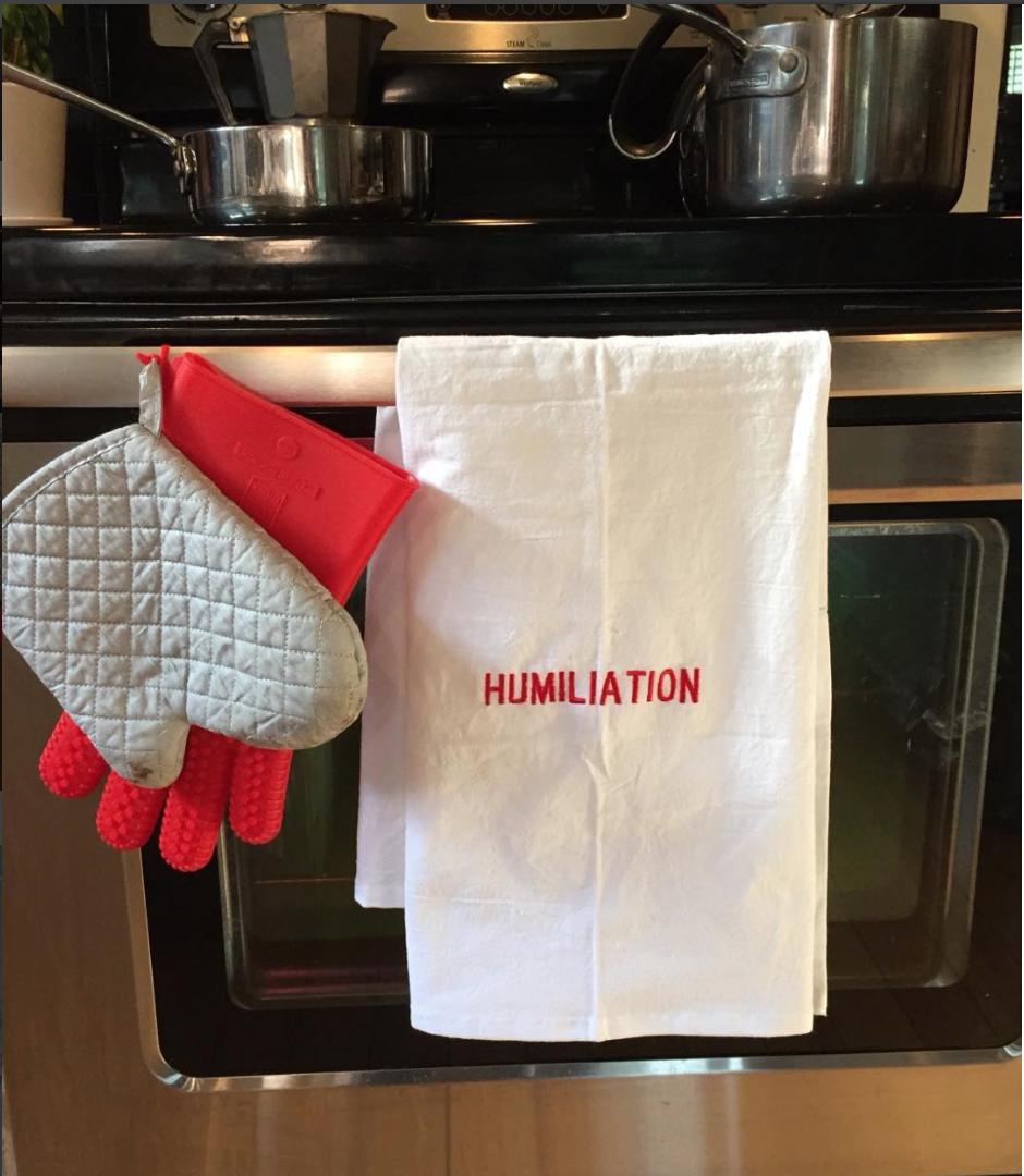 Humiliation kitchen towels