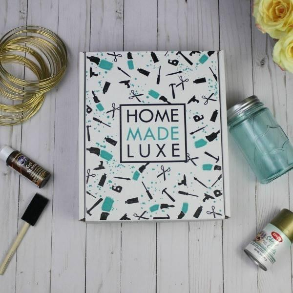 Home Made Luxe - $29  Home Made Luxe is Pinterest in a Box! They deliver Do it yourself (DIY) home decor projects to your doorstep every month.