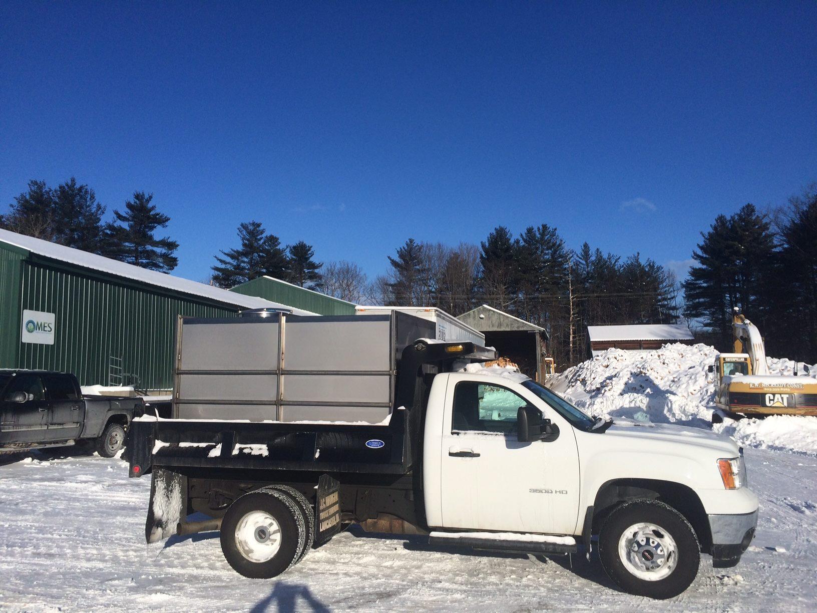 Custom truck sap tank.